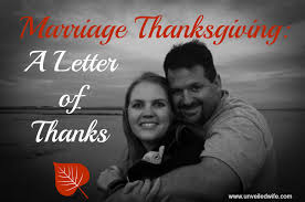 marriage thanksgiving a letter of thanks