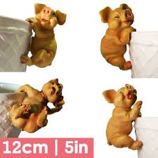 large plant pot hanging 4 pigs limited amount garden ornaments
