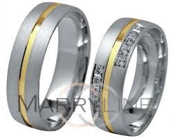 svadobne obrucky svadobné obrúčky 31h z bieleho zlata a žltou drážkou s pieskovaním
