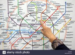 Moscow Russia Map Moscow Russia 16th Sep 2016 The Moscow Metro Map At The New