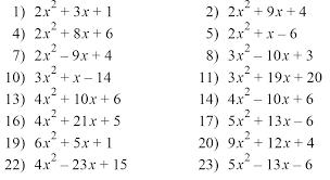 factoring algebraic expressions worksheets worksheets