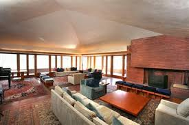 frank lloyd wright living room frank lloyd wright s william p boswell house hooked on houses