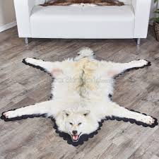 Reindeer Hide Rug 6 Feet 2 Inch 188 Cm Foot Arctic Wolf Skin Rug A55368a