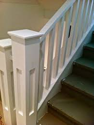 craftsman style wide square spindles google search home ideas
