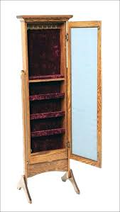 standing mirror jewelry cabinet standing mirror jewelry armoire syrius top