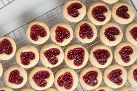 heart shaped jam thumbprint cookies wanna come with
