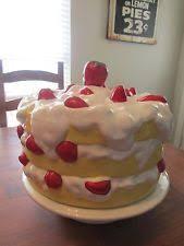 Red Cake Plate Pedestal Unbranded Ceramic Cake Stands Ebay