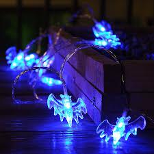 9 8ft 20 leds string lights with bat pendants spooky halloween