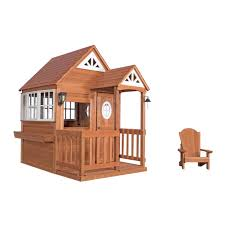 deluxe cedar mansion playhouse deluxe diy home plans database