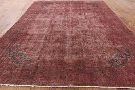 Area Rug 10 X 12 Oriental Pink Overdyed 10 U0027x12 U0027 Hand Knotted Wool Area Rug H9770