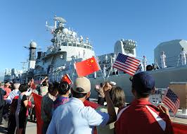 Us Military Flags File Chinese Citizens Wave The U S And China Flags As The