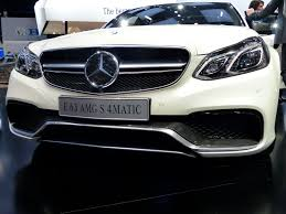 the 2014 mercedes benz e class family on display at the detroit