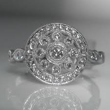 vintage style diamond cluster ring the antiques room