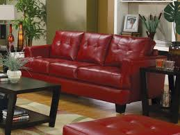 Red Leather Chair Samuel Red Leather Living Room Set 501831 From Coaster 501831