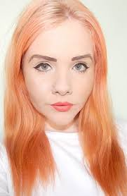 top 25 best peach hair dye ideas on pinterest pastel orange