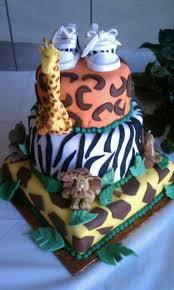 jungle theme baby shower 3 tier cake cakecentral com