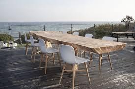 design gartentisch outdoor tisch gartentisch design naturbelassen massivholz