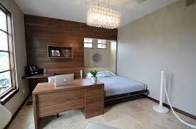Minimalist Workspace Bedrooms Minimalist Bedroom With Modern Bed Also Gray Fluffy Rug