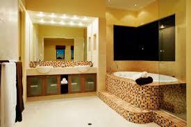 small bathroom lighting ideas dark brown finish maple wood vanity