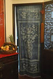 Door Way Curtains Indigo Dye Door Curtain Mountain Folkcraft