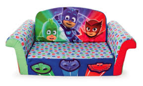pj masks plush kids chair fold padded sofa bed lounge couch