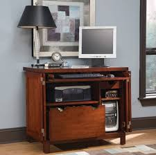 living room vintage small computer desk with file storage and