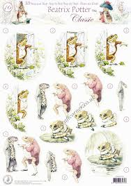 rabbit by beatrix potter beatrix potter s rabbit 16 fisher 3d decoupage sheet