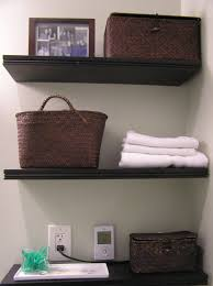bathroom black corner floating bathroom towel storage shelves
