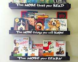 Wall Mounted Book Shelves by Wall Mount Bookshelf Etsy