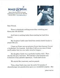 sofii how i wrote it the make a wish foundation u0027s prospect letter
