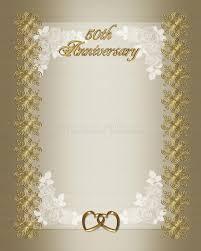 50th wedding anniversary program templates 50th wedding anniversary invitation template stock illustration