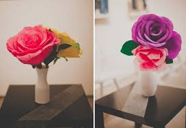 Paper Rose Topiary - diy giant paper rose for your wedding budget brides guide a