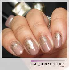 step by step nail art thursday gold glitter gradient over