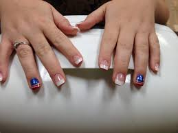 acrylic nails with white tips and 4th of july design yelp