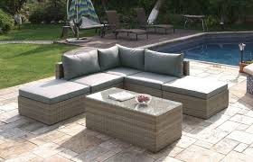 Outdoor Furniture Sectional Sofa Lizkona Outdoor Patio 6 Pcs Sectional Sofa Set By Poundex