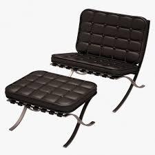 mies van der rohe barcelona chair and ottoman 3d model cgstudio