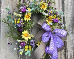 summer wreath summer door wreath etsy