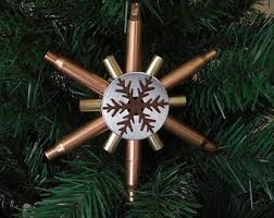 rustic snowflake ornament used bullet recycled gun shell casings