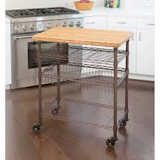 Kitchen Island With Stainless Top Bamboo Kitchen Island Stainless Steel Top Decoration