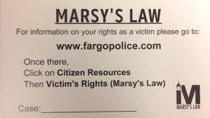 Victim Witness Coordinator Letter Marsy U0027s Cards Among First Steps In New Victim Rights Law In Nd