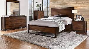 abbott hazelnut 5 pc king panel bedroom king bedroom sets dark wood