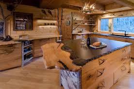 Rustic Birch Kitchen Cabinets Moose Meadow Lodge Kitchen Stauffer Woodworking