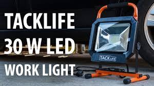 3000 lumen led work light review tacklife 30 w 3000 lumens 5000 k led work light youtube