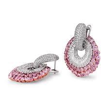 pink diamond earrings fancy pink diamond earrings 14 46 carat i1 clarity