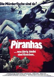 poster for piranha 1978 usa wrong side of the art