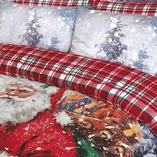 Double Christmas Duvet Pieridae Luxury Vintage Father Christmas Double Duvet Cover Quilt
