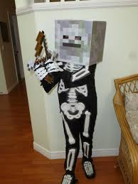Minecraft Enderman Halloween Costume Diy Minecraft Skeleton Costume Kids Halloween Party Ideas
