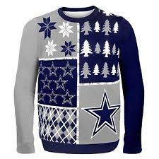 dallas cowboys christmas lights nfl mens light up ugly christmas sweater 2xl dallas cowboys ebay