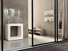bathroom cool modern bathroom design with white cube vanity sink