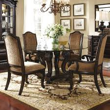 round dining table set with leaf extension dining room table